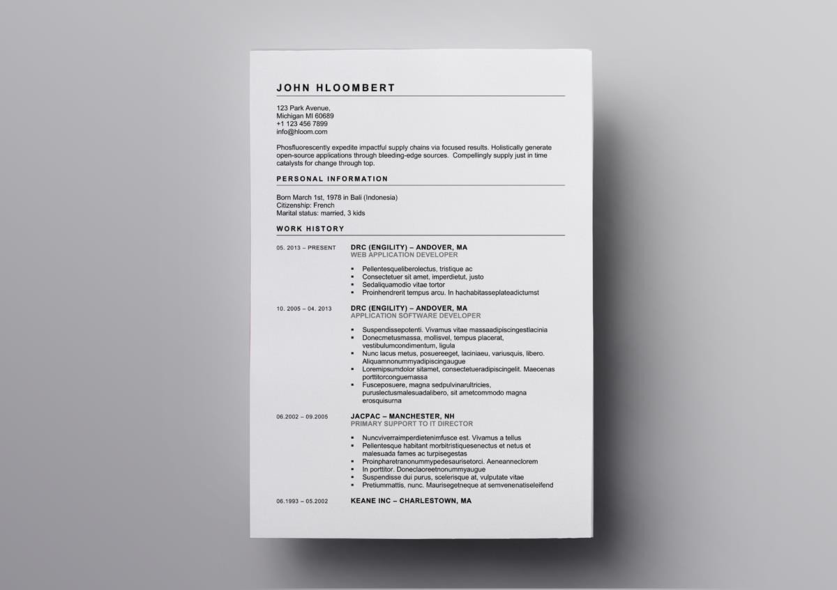 open office professional resume template
