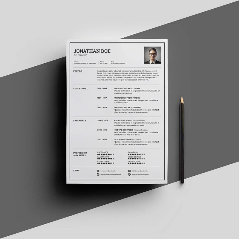 free clean resume templates word