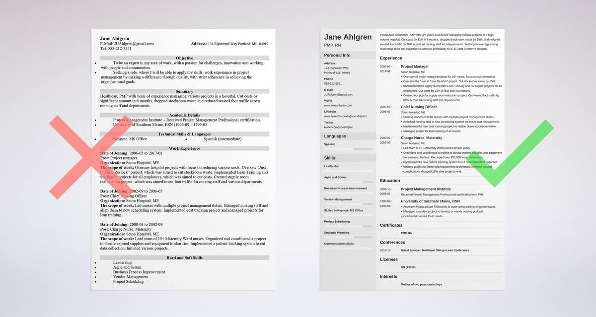 Project Manager Resume Sample  Complete Guide +20 Examples - resume for project manager