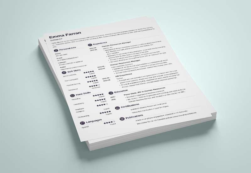 Simple Resume Templates (15 Examples to Download  Use Now) - Simple Resume Templates
