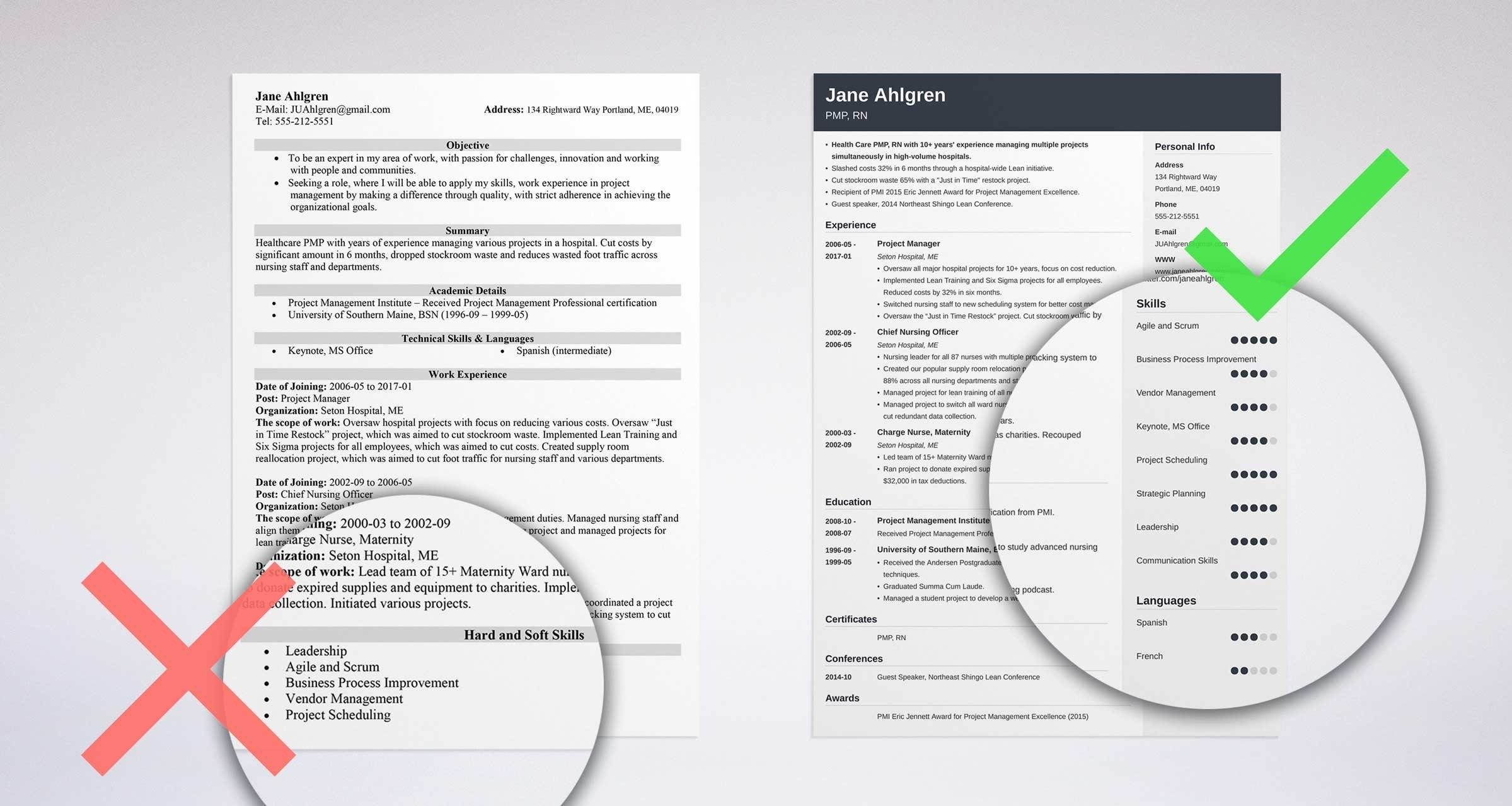 key points to mention in resume