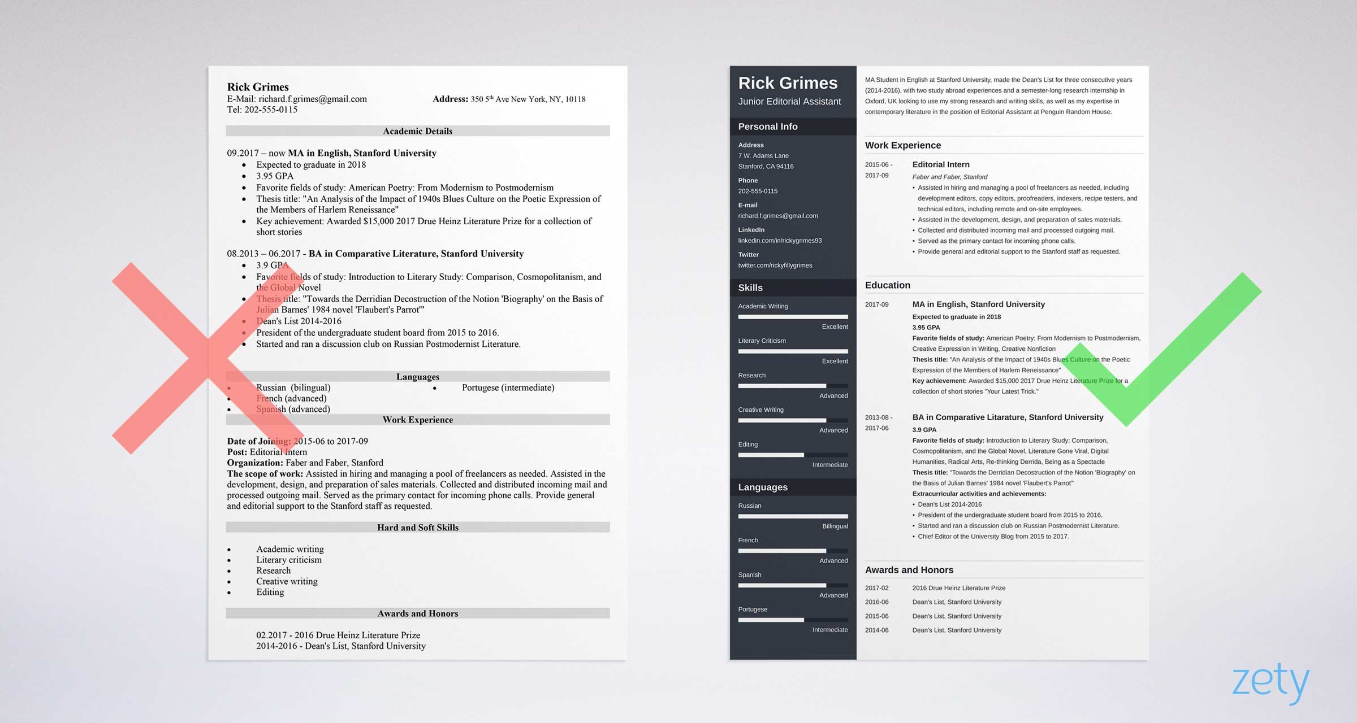 bad resume vs good resume examples pdf