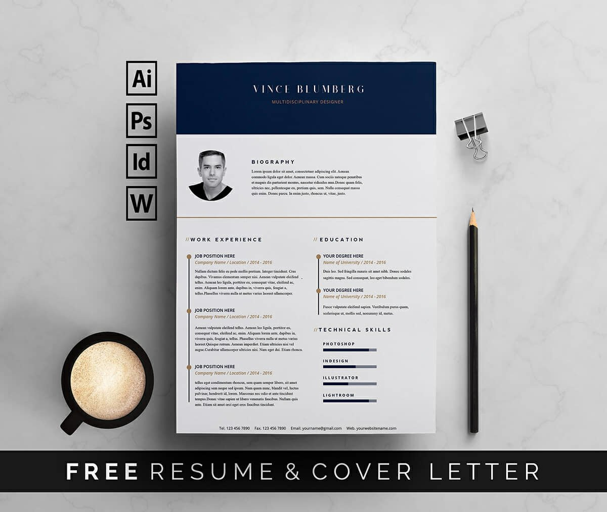 free resume templates two pages