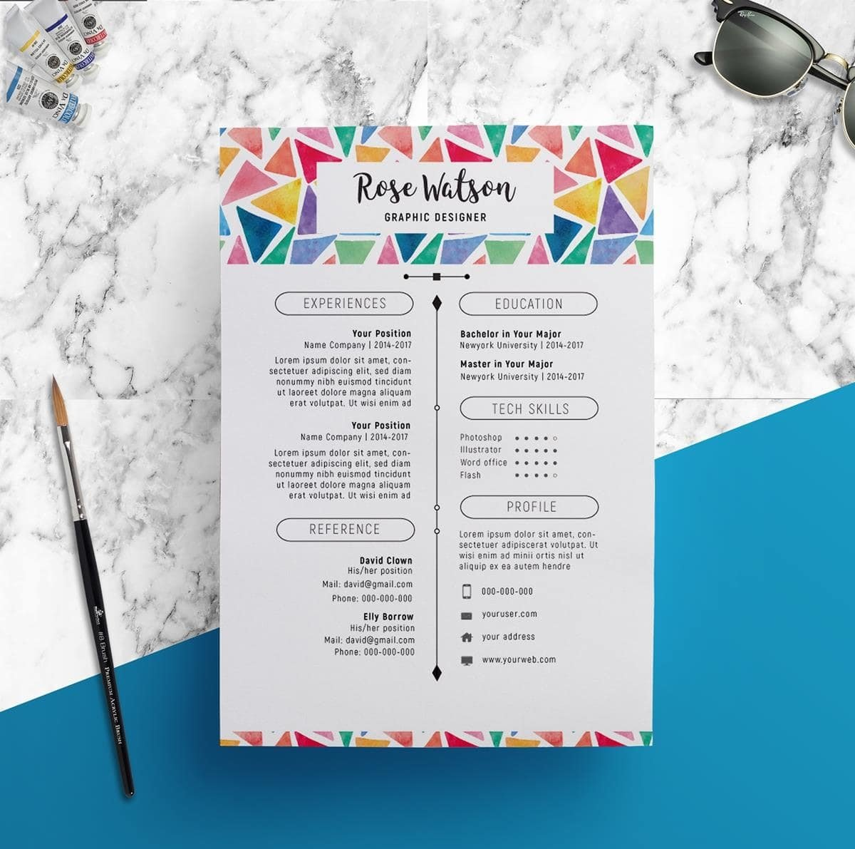 resume templates compatible with pages