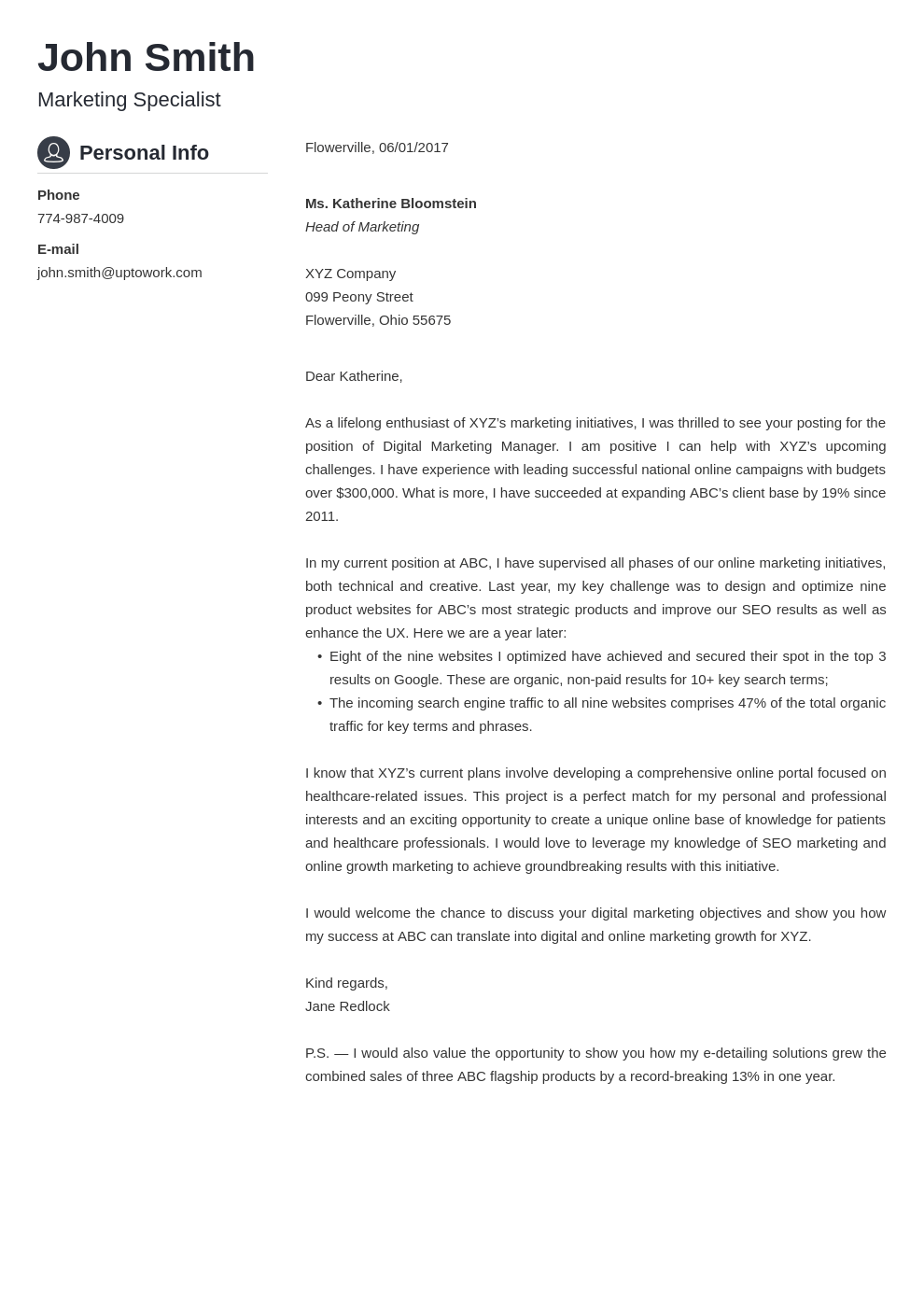most creative cover letters