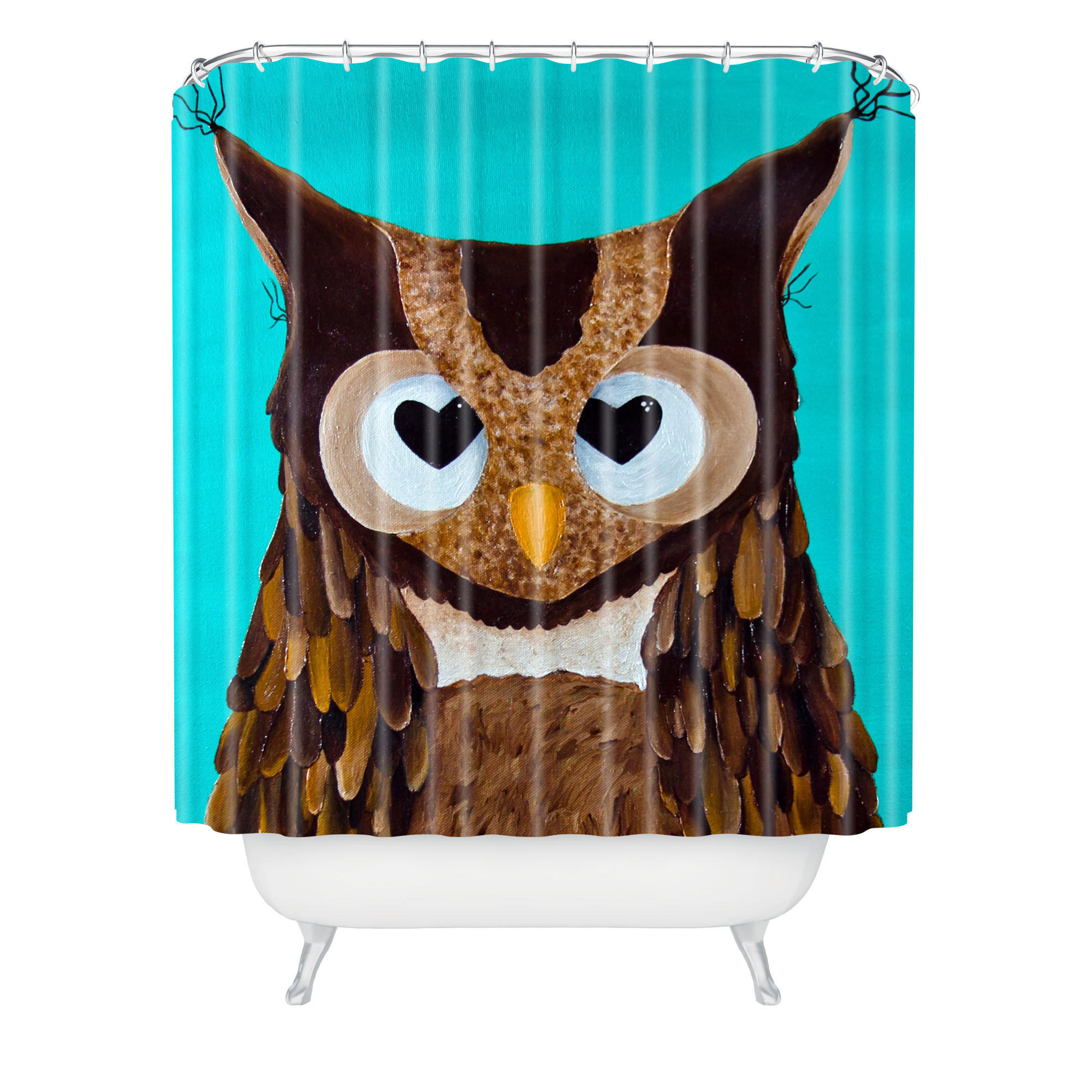 Owl Bathroom Mandy Hazell Owl Love You Shower Curtain From Deny Designs