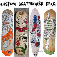 Custom Hand Painted Skateboard Deck Art from punkrockparti on