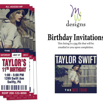 Taylor Swift - Printable Concert Ticket from mwarnerdesigns on