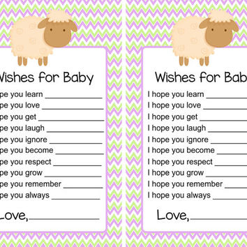 Baby Shower Game Wishes for Baby Lavender from Little LillyBug