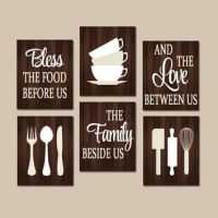 Best Bless The Food Before Us Wall Decor Products on Wanelo