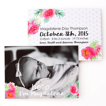 Best Baby Girl Announcement Cards Products on Wanelo