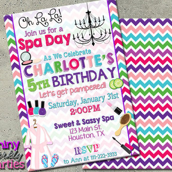 Best Spa Party Invitation Products on Wanelo - spa invitation