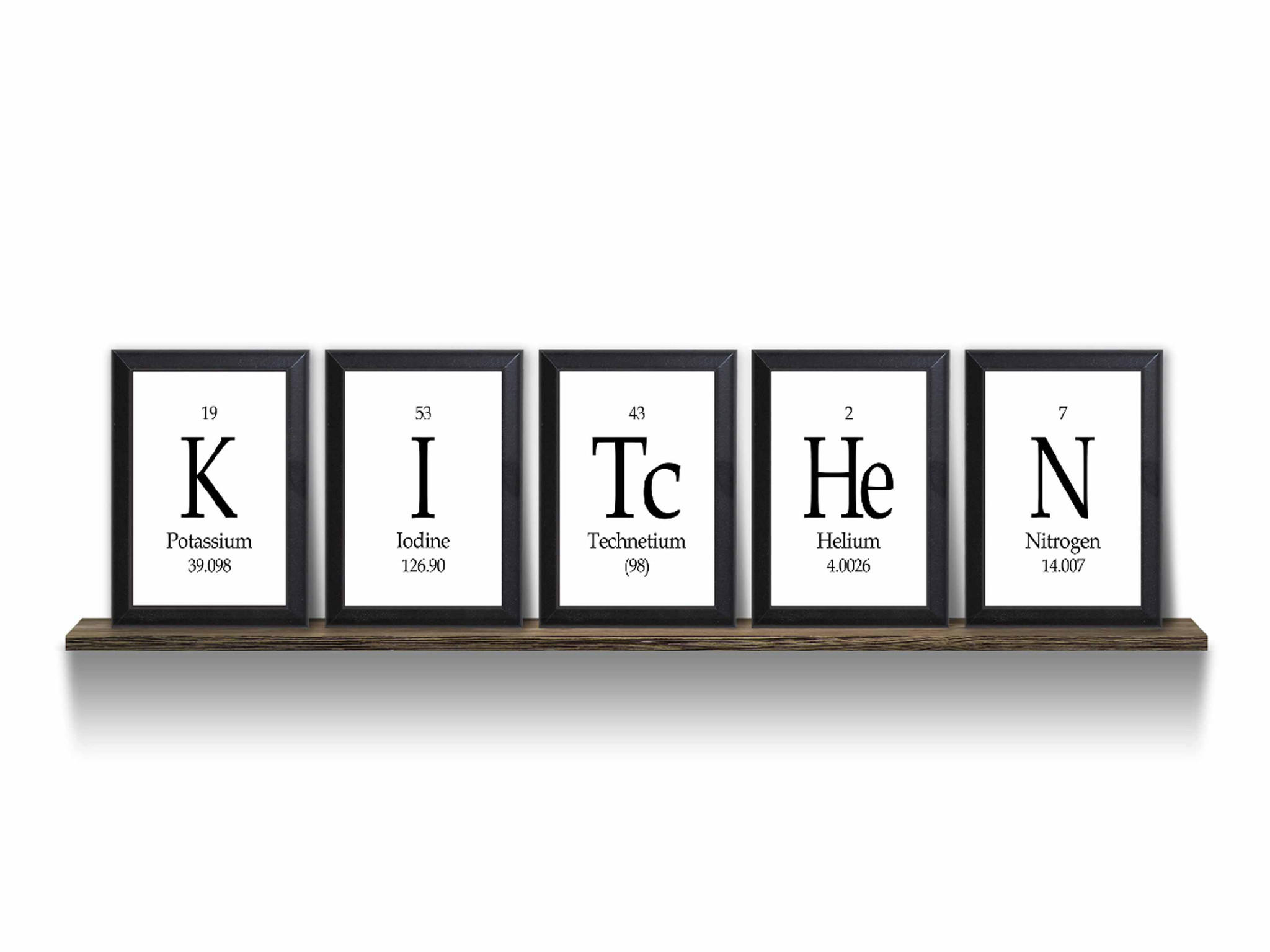 Geeky Home Decor Kitchen Periodic Table Framed 5 Piece From Neurons Not