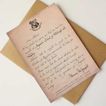 Best Hogwarts Acceptance Letter Products on Wanelo - hogwarts acceptance letter