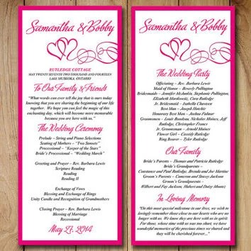 Best Wedding Ceremony Program Templates Products on Wanelo - wedding program template