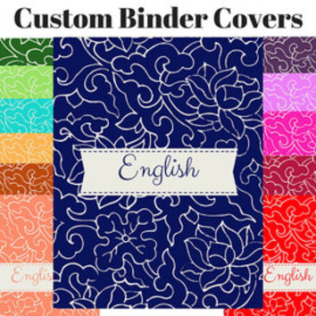 Best Binder Covers Products on Wanelo - english binder cover