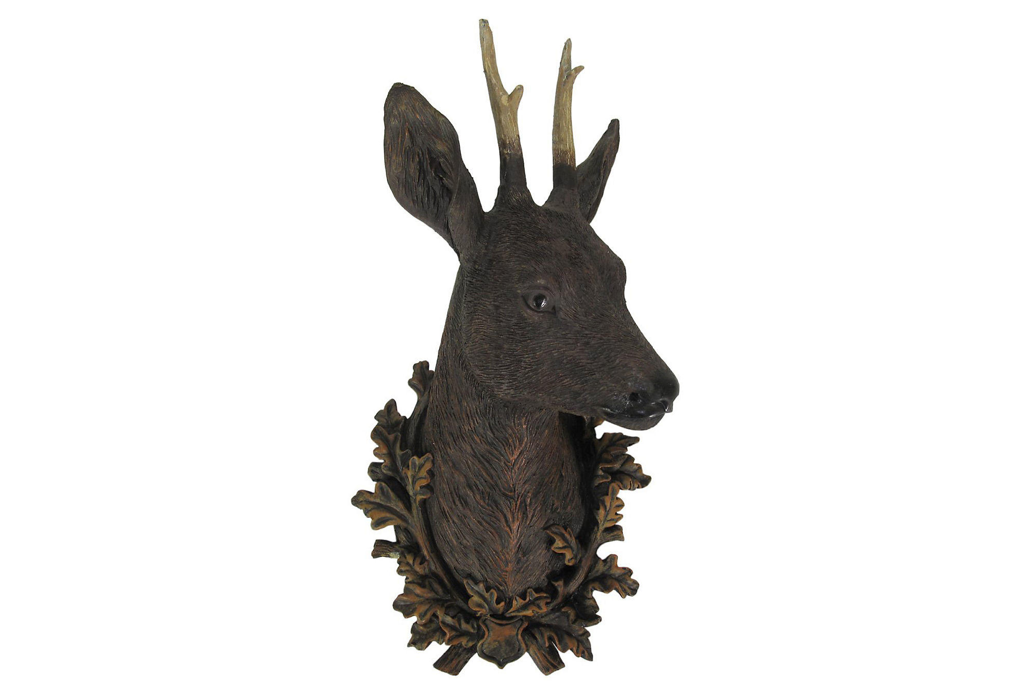 Faux Stag Head Faux Deer Head Wall Decor Natural From One Kings Lane Home
