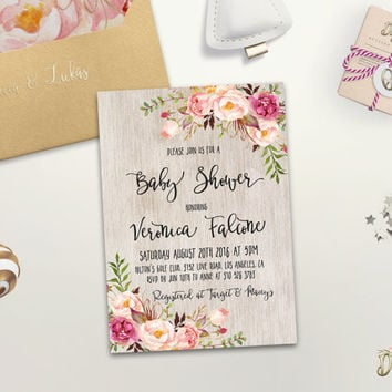 Boho Baby Shower Invitation Printable from DigartDesigns on Etsy