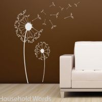 Dandelion Decal Large Flower wall sticker from ...