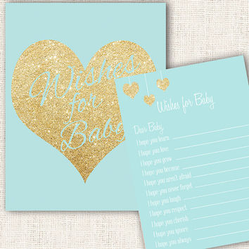Wishes for baby game blue and gold baby from ProjectBambino on
