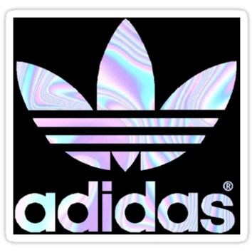 Girls Pink Bedroom Wallpaper Adidas Logo Holographic By Crazyzoc From Redbubble Other