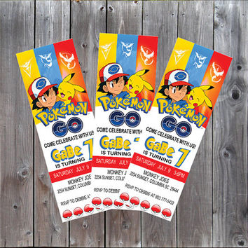 Best Pokemon Invitations Products on Wanelo
