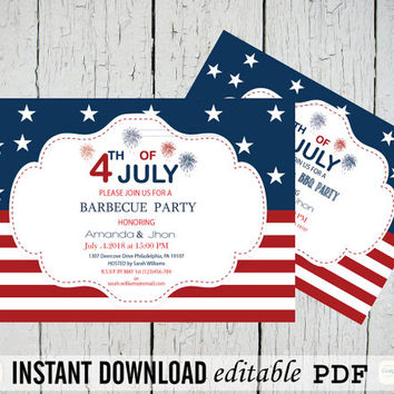 4th of July, Independence Day, from GraphicArtDesign on Etsy - 4th of july template