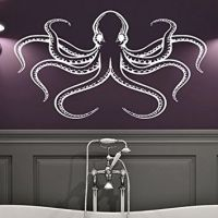 Wall Decal Octopus Tentacles Fish Deep from Amazon