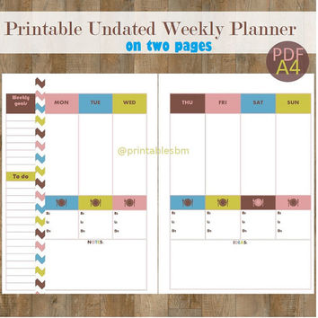 French Chic Printable Weekly Planner + 2 from PrintablesByMagda