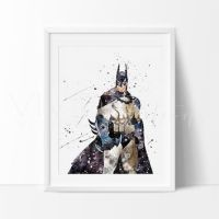 Watercolor Batman print Batman colorful from ColorfulPrint on