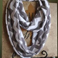 Gray and White Chevron Infinity Scarf from ...