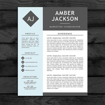 Resume Template / CV Template, Free Cover from PandaPawGraphics