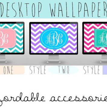 Monogram Desktop/Laptop Wallpaper from AfordableAccesories on