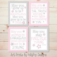 Baby Girl Nursery Wall Art Forever Young from HollyPop Designs