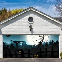 Garage Door Halloween Decorations Cover from Amazon