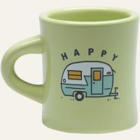 Happy Camper Diner Mug| Ceramic Coffee from lifeisgood.com