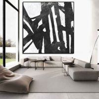 Best Large Black And White Abstract Art Products on Wanelo