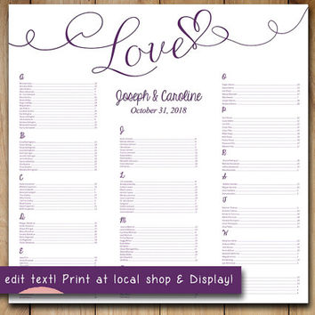 Best Wedding Seating Chart Template Products on Wanelo - free wedding seating chart templates