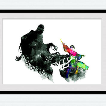 Harry potter and stag vs dementor harry from colorfulprint on