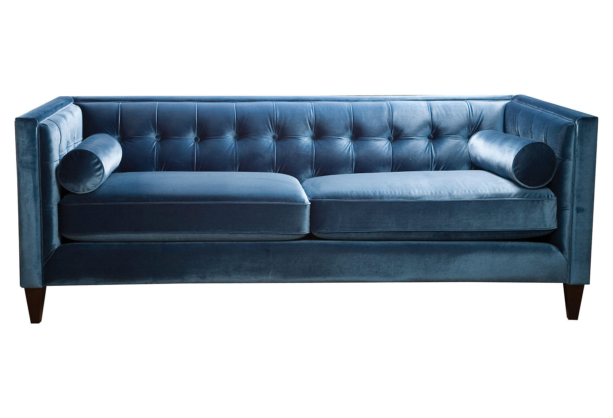 "Jodi 84"" Tufted Velvet Sofa, Teal, Sofas from One Kings Lane"