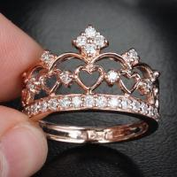 Unique 14K Rose Gold Heart Crown from TheLOGR on Etsy | Rings