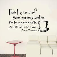 Wall Decals Quotes Alice in Wonderland from ...
