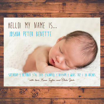 Shop Baby Boy Announcement Cards on Wanelo