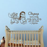 Wall Decal Ohana Means Family, Family from FabWallDecals