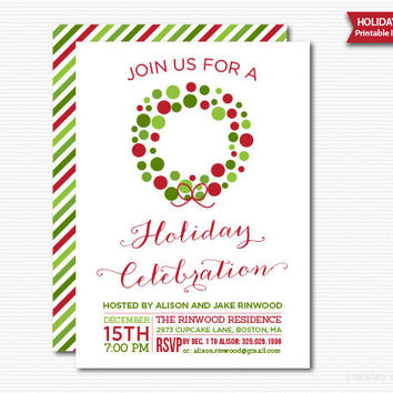 Let#39;s Celebrate Holiday Party from Marley Design shop - holiday celebration invitations