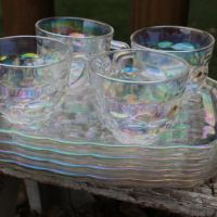 Luncheon Plates With Cup Holder & (4) Vintage Hazel Atlas ...
