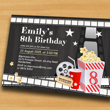 Best Movie Birthday Party Invitation Products on Wanelo