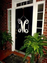 Initial monogram front door wreath / from housesensations ...