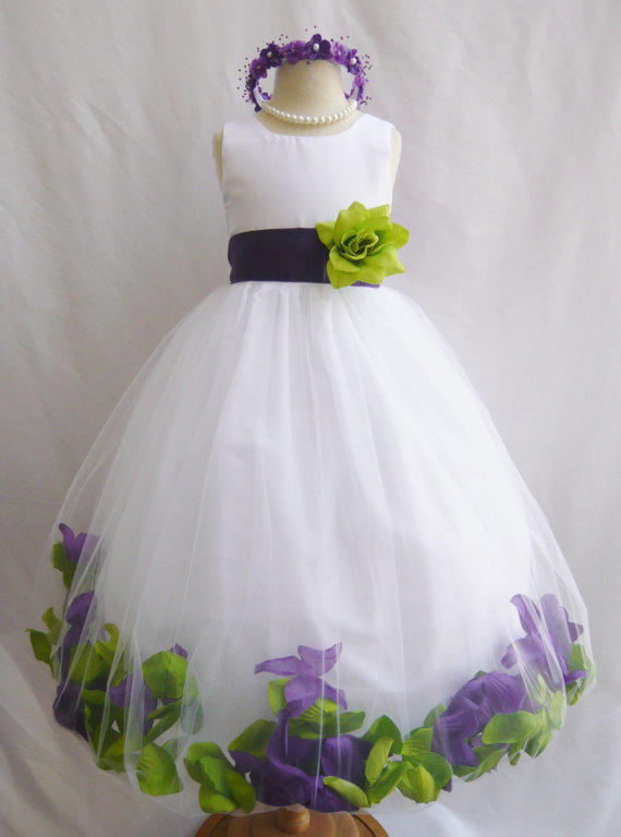 Toddler Baby Dresses Custom Color Flower Girl Rose Petal From Nollacollection On