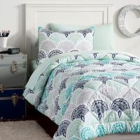 Feather Scallop Value Comforter Set from PBteen | Bedroom
